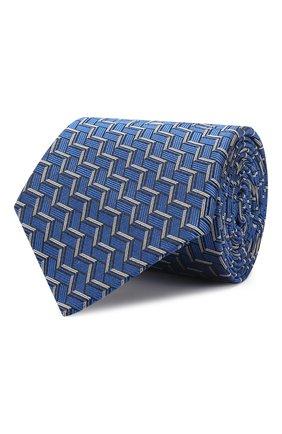 Мужской шелковый галстук LANVIN синего цвета, арт. 2571/TIE   Фото 1