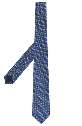 Мужской шелковый галстук LANVIN синего цвета, арт. 2571/TIE   Фото 2