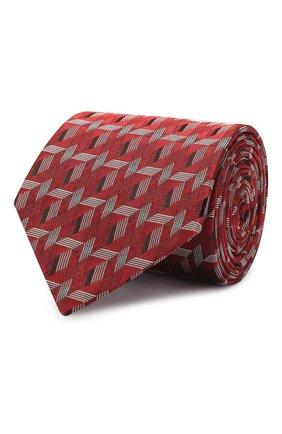 Мужской шелковый галстук LANVIN красного цвета, арт. 2565/TIE | Фото 1