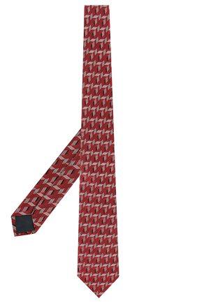 Мужской шелковый галстук LANVIN красного цвета, арт. 2565/TIE | Фото 2