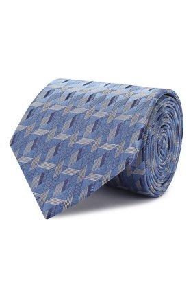 Мужской шелковый галстук LANVIN голубого цвета, арт. 2565/TIE   Фото 1