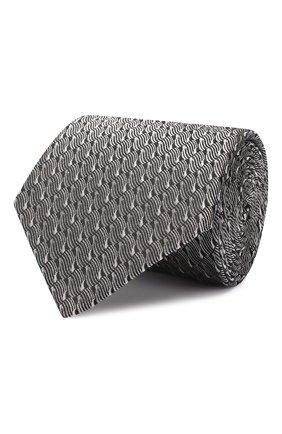 Мужской шелковый галстук LANVIN черного цвета, арт. 2550/TIE | Фото 1