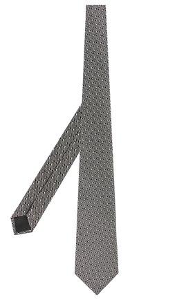 Мужской шелковый галстук LANVIN черного цвета, арт. 2550/TIE | Фото 2