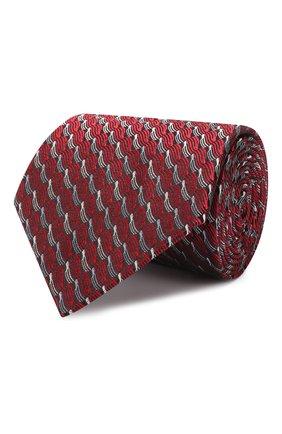 Мужской шелковый галстук LANVIN красного цвета, арт. 2550/TIE | Фото 1