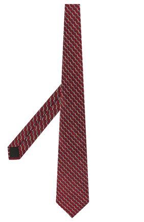 Мужской шелковый галстук LANVIN красного цвета, арт. 2550/TIE | Фото 2