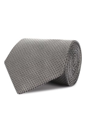 Мужской шелковый галстук LANVIN серого цвета, арт. 2506/TIE   Фото 1