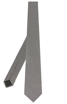 Мужской шелковый галстук LANVIN серого цвета, арт. 2506/TIE   Фото 2