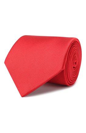 Мужской шелковый галстук LANVIN красного цвета, арт. 1302/TIE | Фото 1