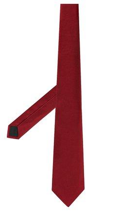 Мужской шелковый галстук LANVIN бордового цвета, арт. 1282/TIE   Фото 2