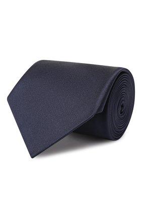 Мужской шелковый галстук LANVIN темно-синего цвета, арт. 1282/TIE | Фото 1