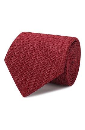 Мужской шелковый галстук LANVIN бордового цвета, арт. 1208/TIE | Фото 1