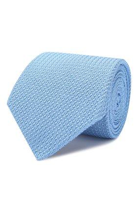 Мужской шелковый галстук LANVIN голубого цвета, арт. 1208/TIE   Фото 1