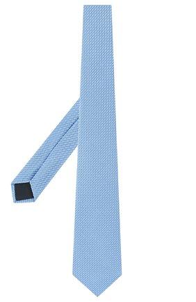 Мужской шелковый галстук LANVIN голубого цвета, арт. 1208/TIE   Фото 2