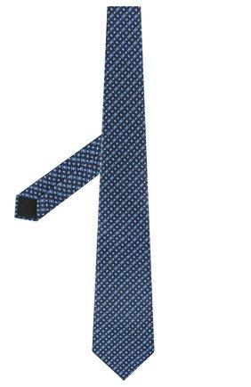Мужской комплект из галстука и платка LANVIN синего цвета, арт. 4256/TIE SET   Фото 2