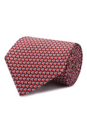 Мужской комплект из галстука и платка LANVIN красного цвета, арт. 4253/TIE SET | Фото 1