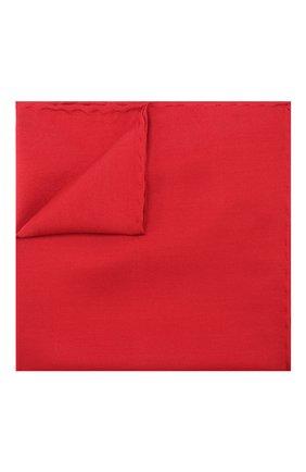 Мужской шелковый платок LANVIN красного цвета, арт. 5738/HANDKERCHIEF   Фото 1