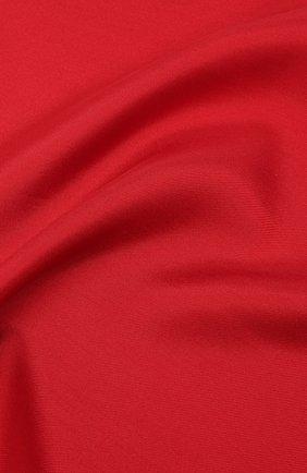 Мужской шелковый платок LANVIN красного цвета, арт. 5738/HANDKERCHIEF   Фото 2