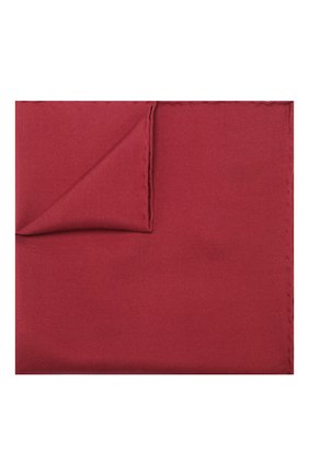 Мужской шелковый платок LANVIN бордового цвета, арт. 5738/HANDKERCHIEF | Фото 1