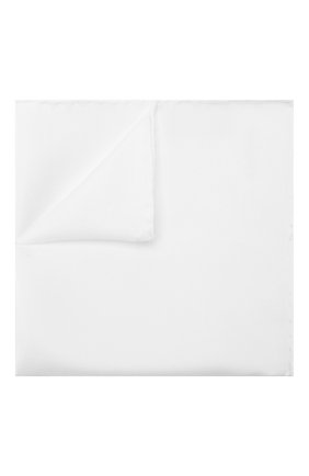 Мужской шелковый платок LANVIN белого цвета, арт. 5738/HANDKERCHIEF | Фото 1