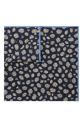 Мужской шелковый платок LANVIN синего цвета, арт. 2915/HANDKERCHIEF | Фото 1