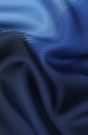 Мужской шелковый платок LANVIN синего цвета, арт. 2909/HANDKERCHIEF   Фото 2
