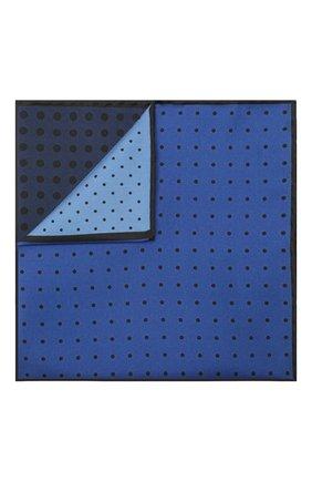 Мужской шелковый платок LANVIN синего цвета, арт. 2906/HANDKERCHIEF   Фото 1