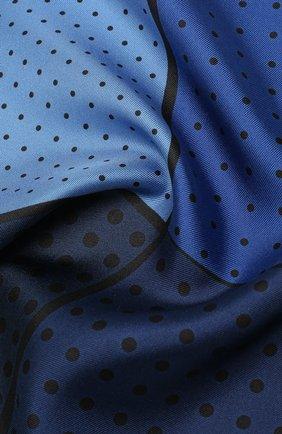 Мужской шелковый платок LANVIN синего цвета, арт. 2906/HANDKERCHIEF   Фото 2