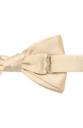 Мужской шелковый галстук-бабочка LANVIN бежевого цвета, арт. 1282/B0W TIE | Фото 3