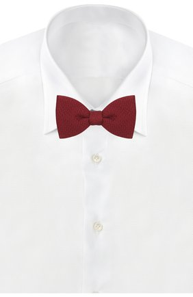 Мужской шелковый галстук-бабочка LANVIN бордового цвета, арт. 1208/B0W TIE | Фото 2