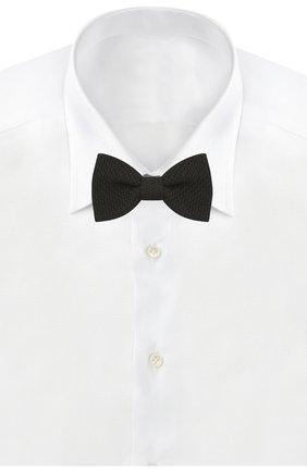 Мужской шелковый галстук-бабочка LANVIN черного цвета, арт. 1208/B0W TIE | Фото 2