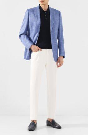 Мужские кожаные пенни-лоферы BARRETT синего цвета, арт. 201U007.5/CERV0 ASP0RTABILE | Фото 2