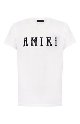 Мужская хлопковая футболка AMIRI белого цвета, арт. Y0M03434CJ | Фото 1