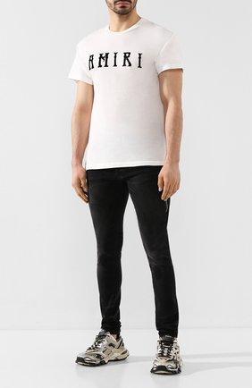 Мужская хлопковая футболка AMIRI белого цвета, арт. Y0M03434CJ | Фото 2