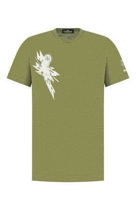 Мужская хлопковая футболка STONE ISLAND SHADOW PROJECT хаки цвета, арт. 721920110 | Фото 1