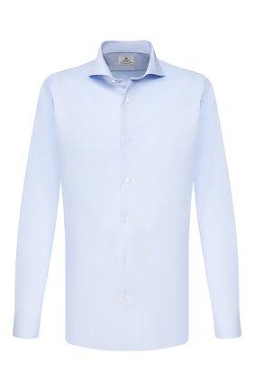 Мужская хлопковая сорочка LUIGI BORRELLI голубого цвета, арт. EV08/FELICE/TS9181 | Фото 1