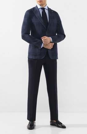 Мужская хлопковая сорочка LUIGI BORRELLI голубого цвета, арт. EV08/FELICE/TS9181 | Фото 2