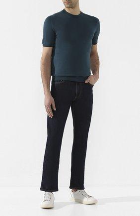 Мужские джинсы CANALI темно-синего цвета, арт. 91717A/PD00018 | Фото 2