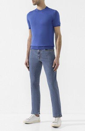 Мужские джинсы CANALI голубого цвета, арт. 91717A/PD00018 | Фото 2
