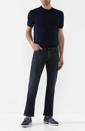 Мужские джинсы CANALI синего цвета, арт. 91700/PD00003 | Фото 2
