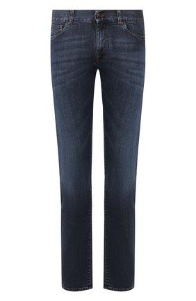 Мужские джинсы CANALI темно-синего цвета, арт. 91700/PD00003 | Фото 1
