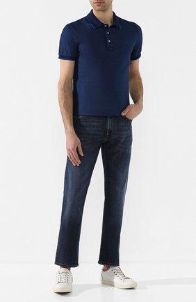 Мужские джинсы CANALI темно-синего цвета, арт. 91700/PD00003 | Фото 2