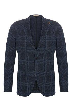 Мужской хлопковый пиджак SARTORIA LATORRE темно-синего цвета, арт. JF74 JE2153 | Фото 1