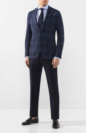 Мужской хлопковый пиджак SARTORIA LATORRE темно-синего цвета, арт. JF74 JE2153 | Фото 2