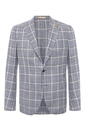 Мужской пиджак из смеси шерсти и шелка SARTORIA LATORRE синего цвета, арт. EF74 Q70616 | Фото 1