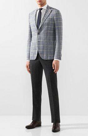 Мужской пиджак из смеси шерсти и шелка SARTORIA LATORRE синего цвета, арт. EF74 Q70616 | Фото 2