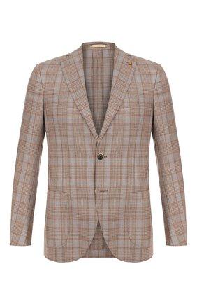 Мужской шерстяной пиджак SARTORIA LATORRE светло-коричневого цвета, арт. EF74 Q70574 | Фото 1