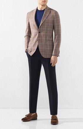 Мужской шерстяной пиджак SARTORIA LATORRE светло-коричневого цвета, арт. EF74 Q70574 | Фото 2