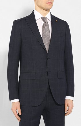 Мужской шерстяной костюм SARTORIA LATORRE синего цвета, арт. A6I7EF Q71114 | Фото 2