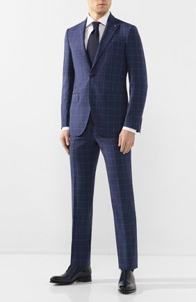 Мужской шерстяной костюм SARTORIA LATORRE темно-синего цвета, арт. A6I7EF Q71042 | Фото 1