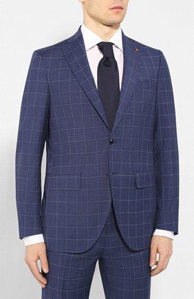 Мужской шерстяной костюм SARTORIA LATORRE темно-синего цвета, арт. A6I7EF Q71042 | Фото 2